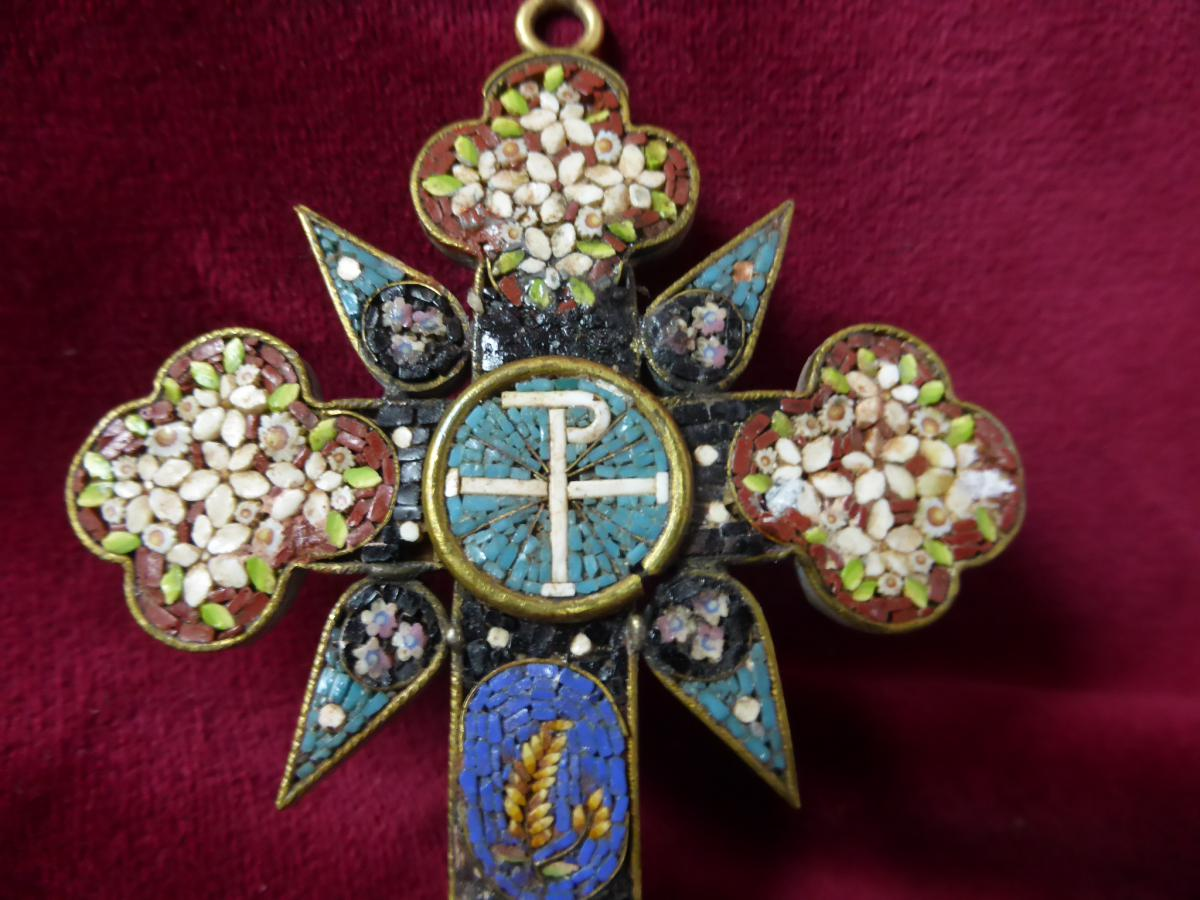 Pectoral Cross In Micro Mosaique-photo-2