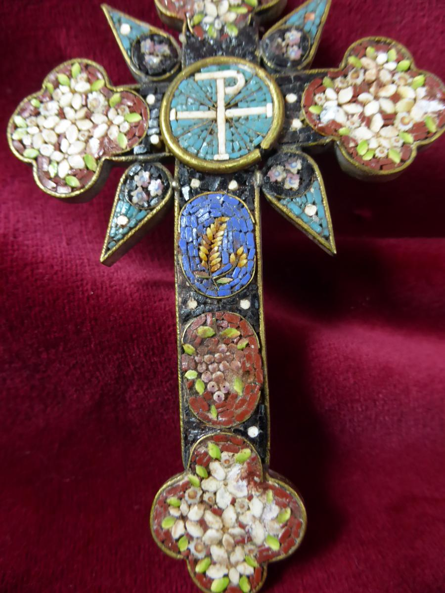 Pectoral Cross In Micro Mosaique-photo-3