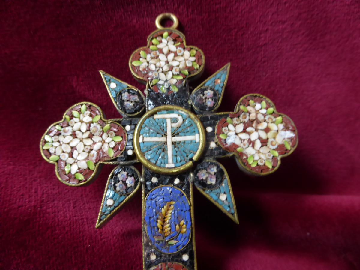 Pectoral Cross In Micro Mosaique-photo-4