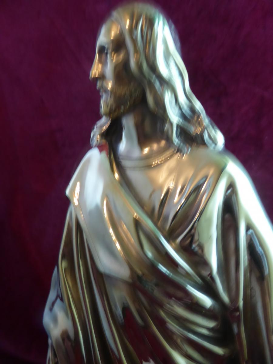 Christ En Bronze Dore  -photo-4