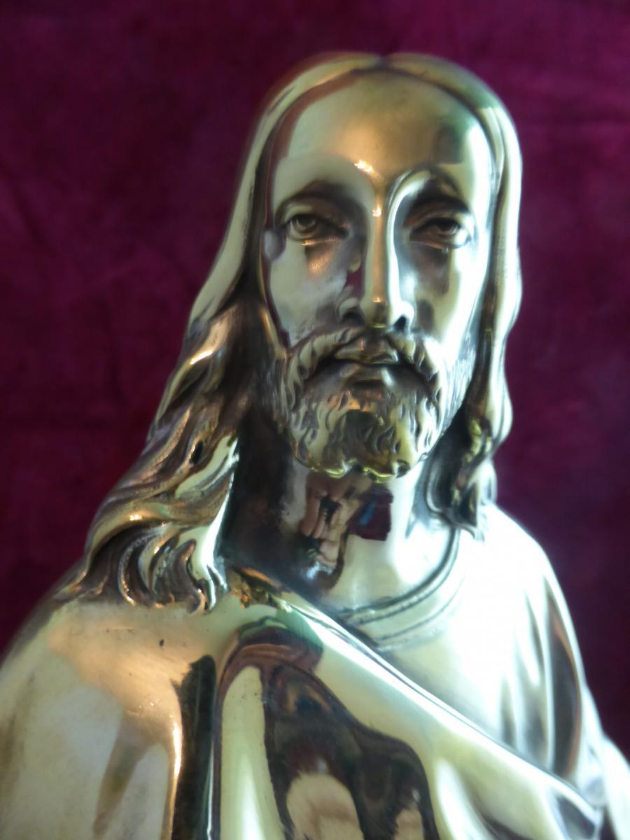 Christ En Bronze Dore  -photo-2