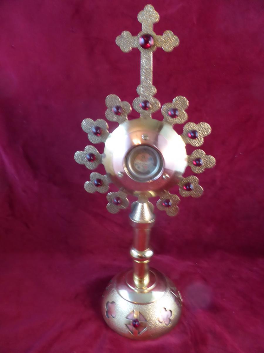 Reliquaire En Bronze Dore St Jean Sepulcre