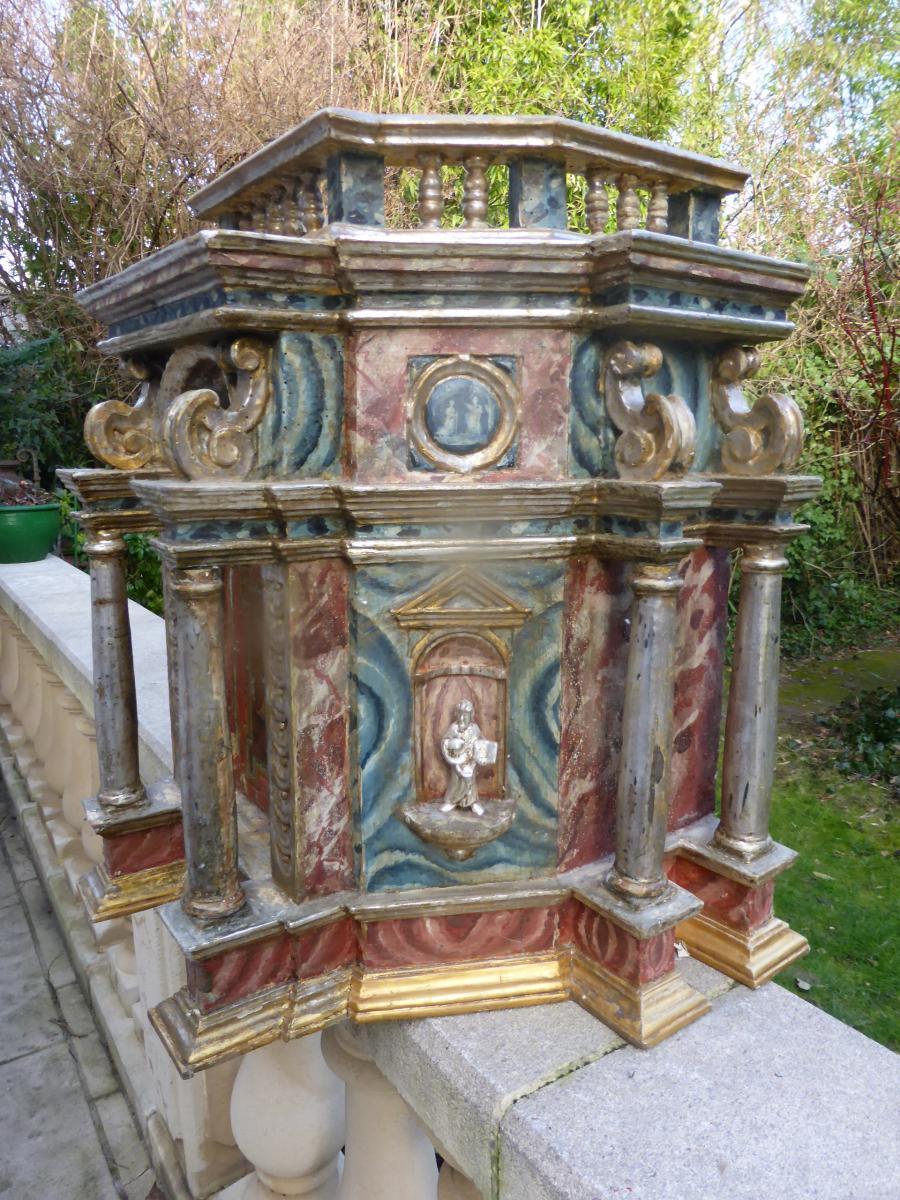 Tabernacle Italien 18  Eme Siecle-photo-2
