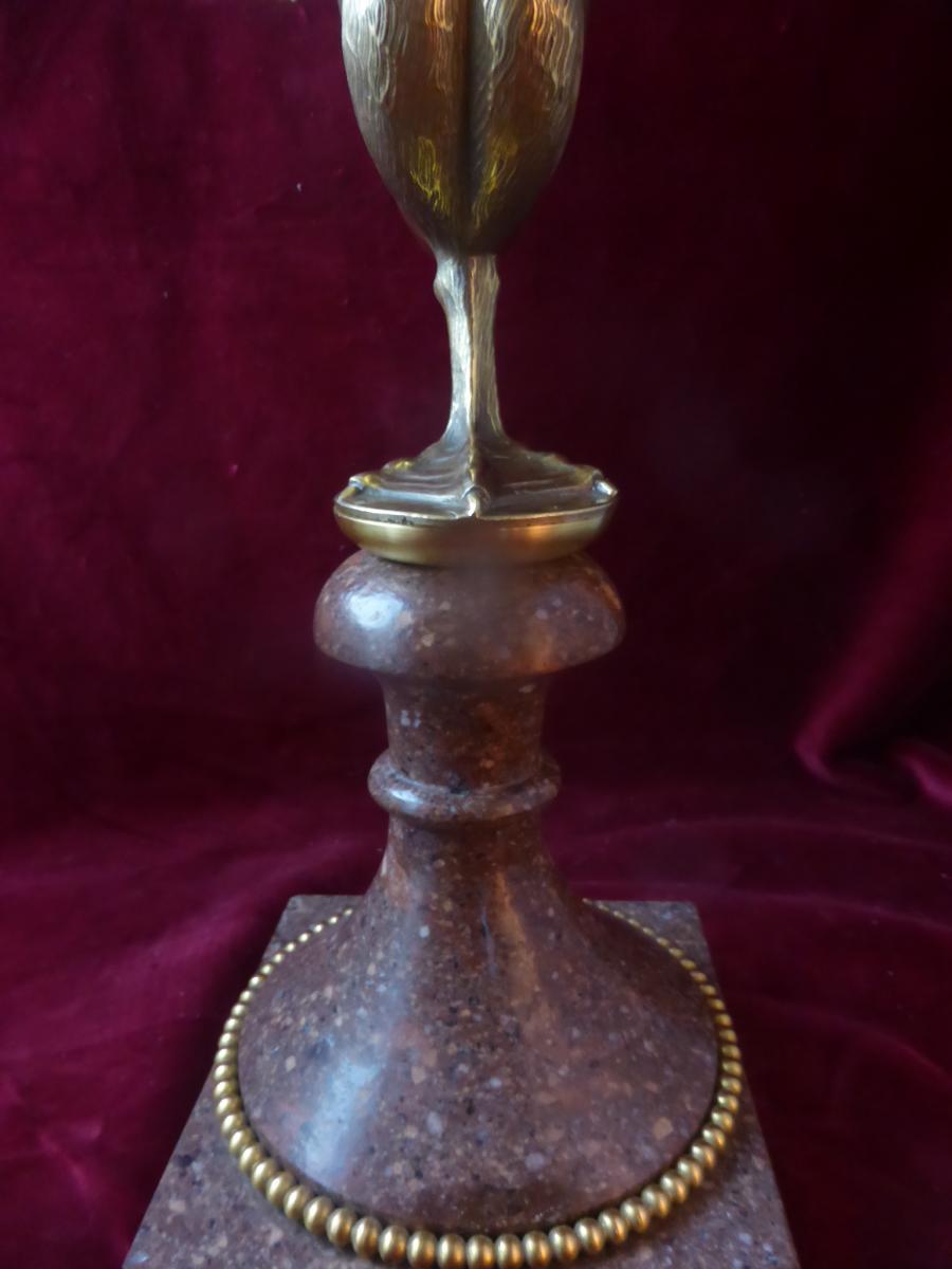 Cygne En Bronze Sur Socle Marbre-photo-2