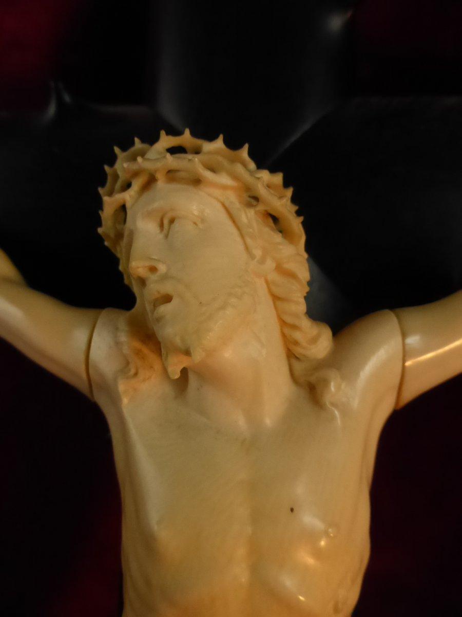 Crucifix En Ebene Christ Ivoire-photo-1