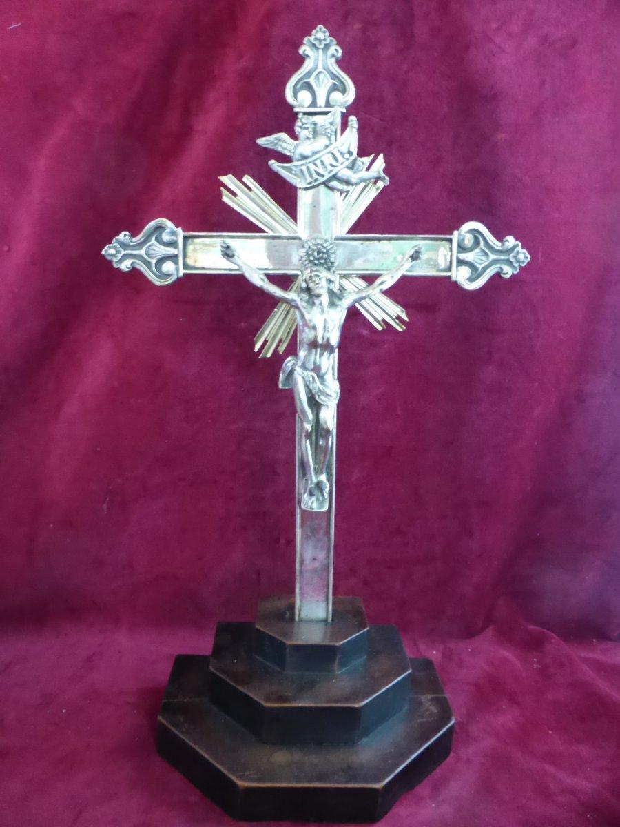 Altar Cross In Bronze Argente