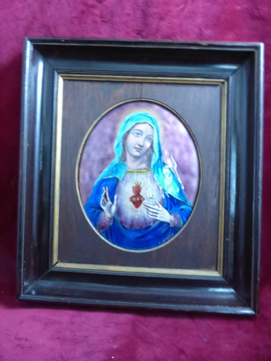 Email De Limoges Vierge Du Sacre Coeur