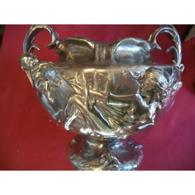 In Tin Cup Signed Auguste Moreau