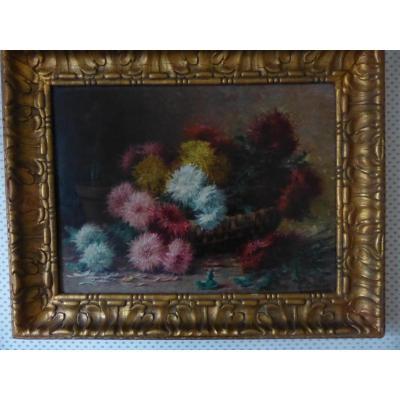 Tableau  Fleurs De Gaston Corbier