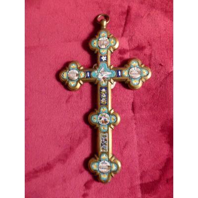 Crucifix En Micro Mosaique De Rome