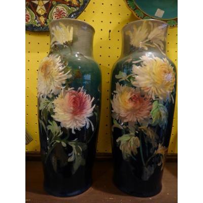 Paire De Vases De Marlotte