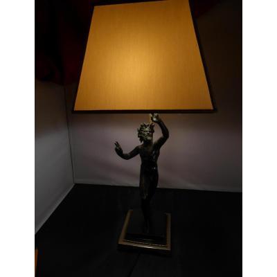 Lampe Bronze Faune Pompei
