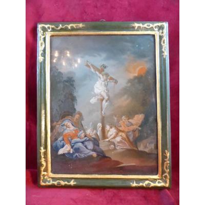 Peinture Sous Verre 18 Eme Descente De Croix