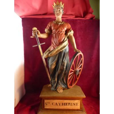 Catherine D Alexandrie Statue 18 Eme