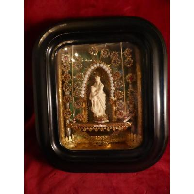 Diorama Reliquary Paperolle Virgin