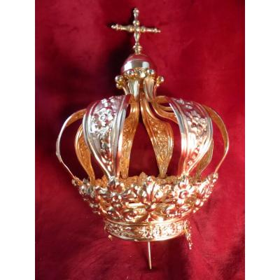 Couronne Mariale Laiton Dore