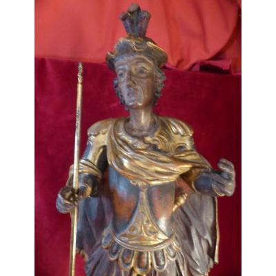 Saint Georges Statue Bois 18 Eme