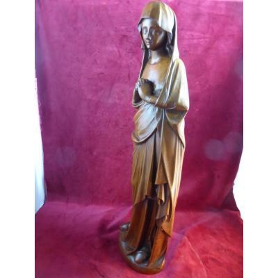 Vierge De Calvaire Noyer