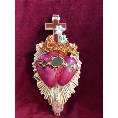 Benitier Sacre Coeur De Jesus Et Marie