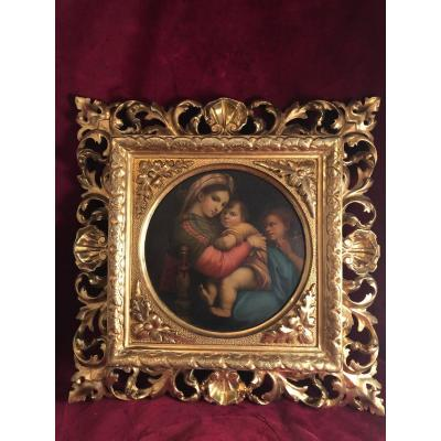 Virgin At The Chair Raphael Florence Table