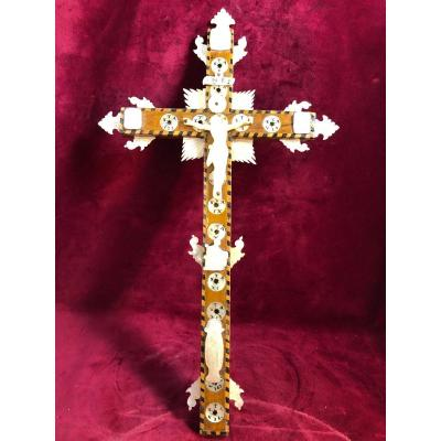 Crucifix En Nacre De Jerusalem