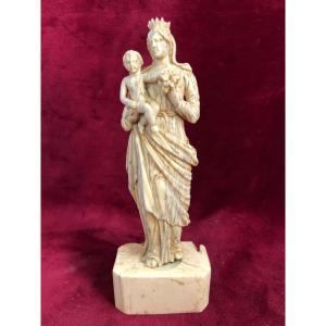 Vierge A L Enfant  Ivoire