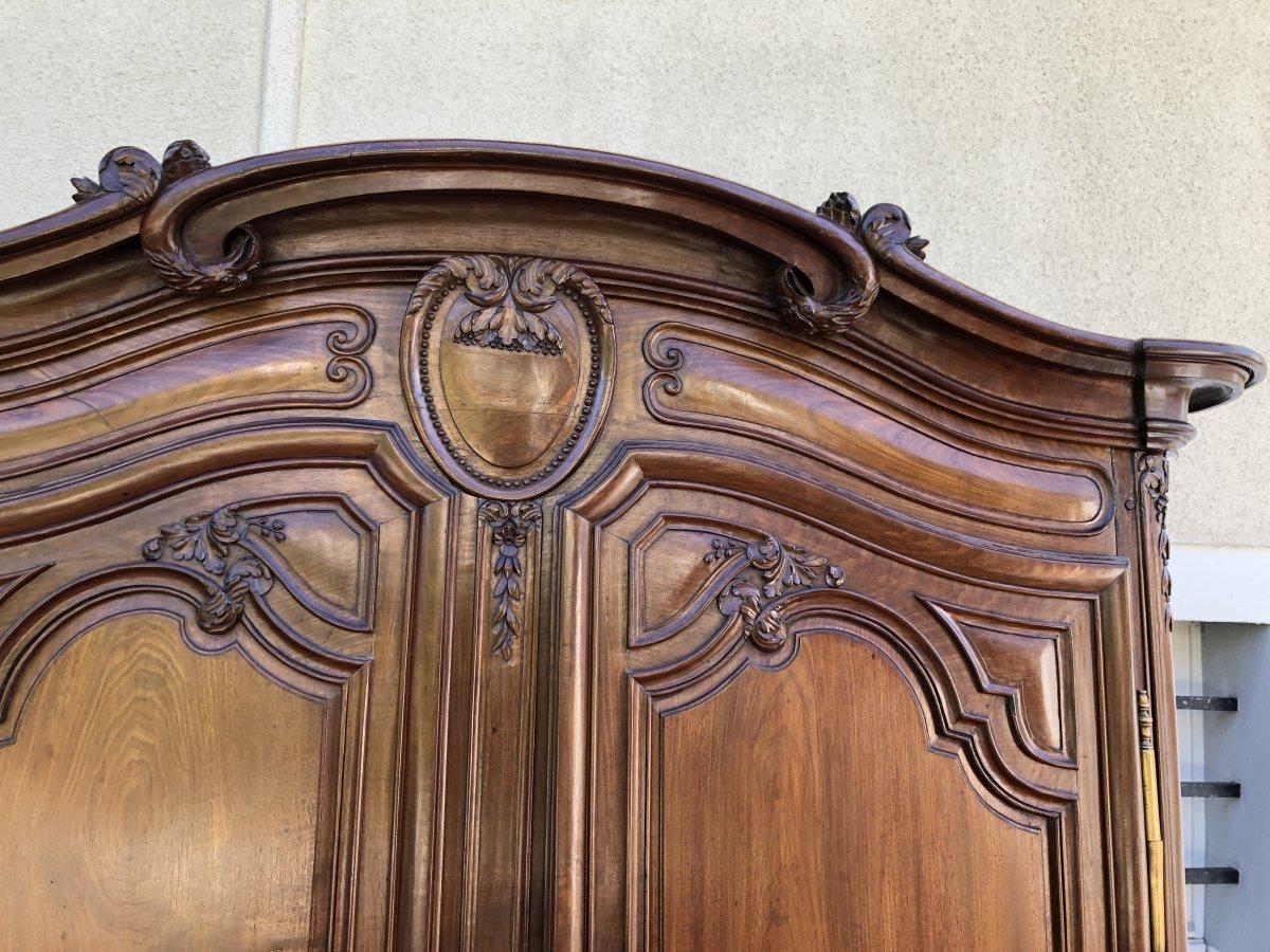 Armoire de Fécamp  Louis XV , De Château  , Epoque XVIIIe Siècle