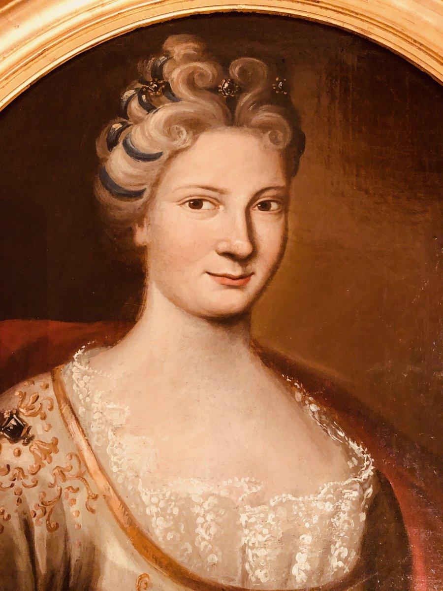 Portrait d'une Dame de Qualité , Epoque XVIIIème Siècle -photo-3