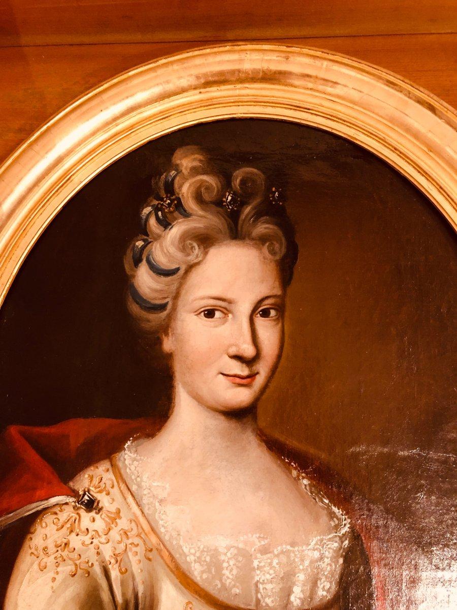 Portrait d'une Dame de Qualité , Epoque XVIIIème Siècle -photo-4