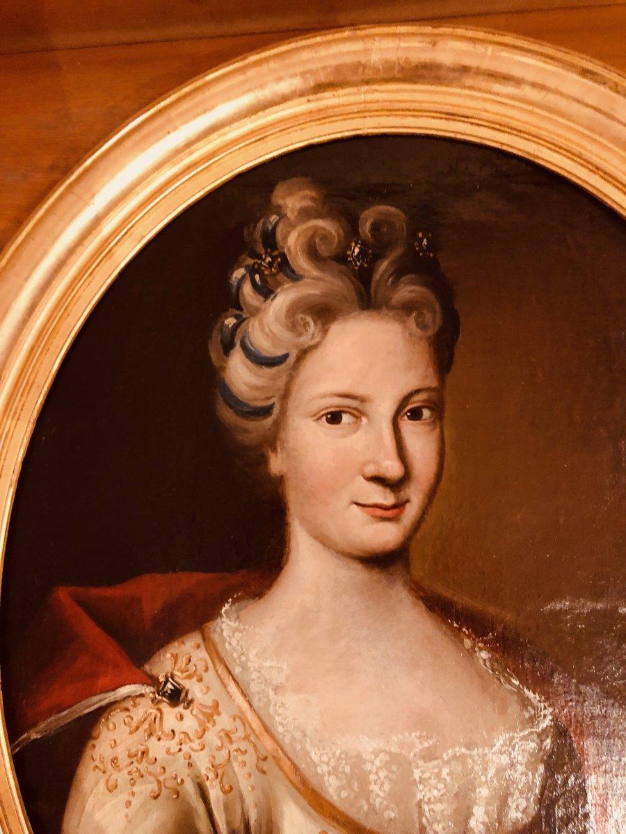 Portrait d'une Dame de Qualité , Epoque XVIIIème Siècle -photo-5