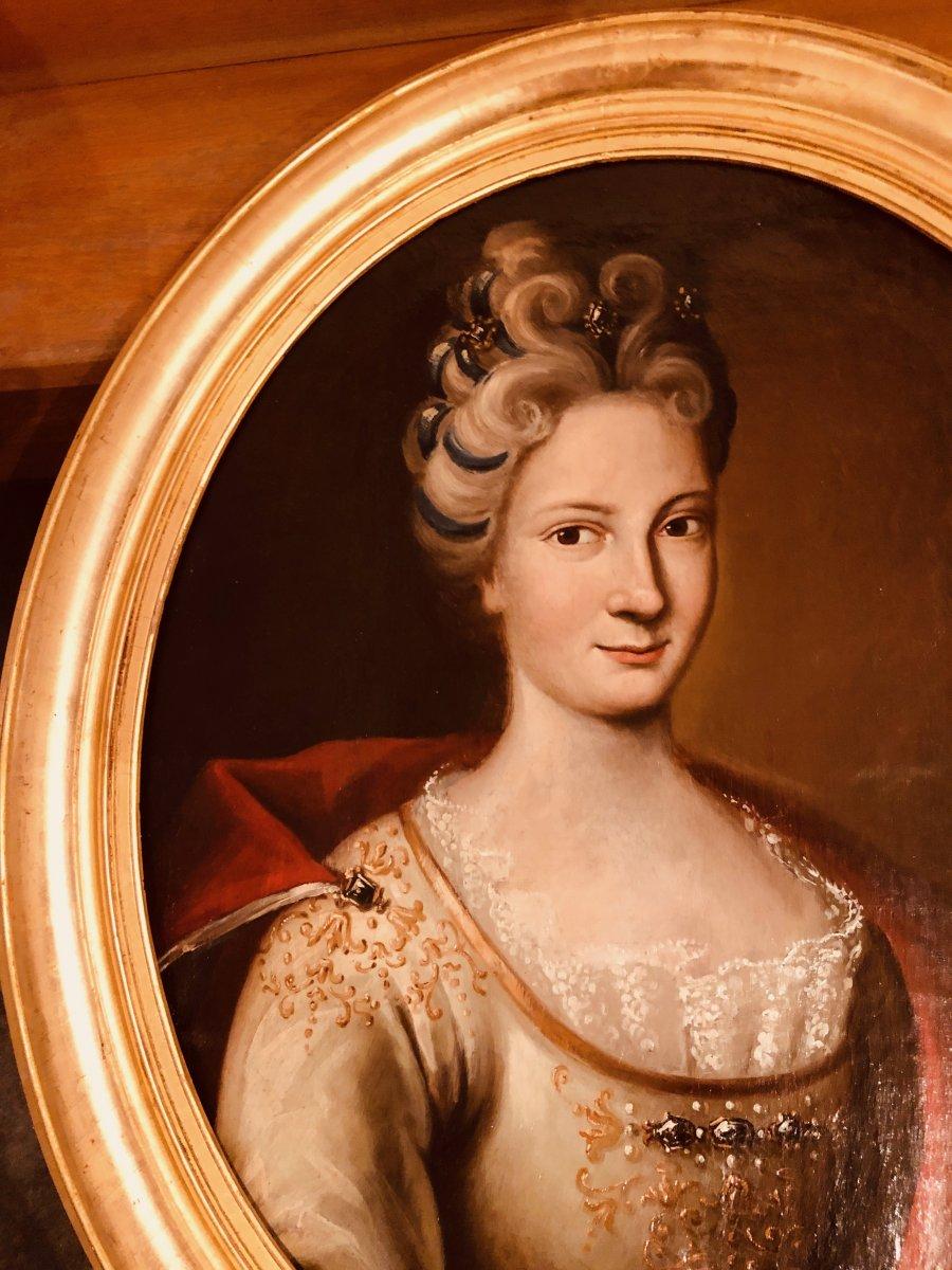 Portrait d'une Dame de Qualité , Epoque XVIIIème Siècle -photo-6