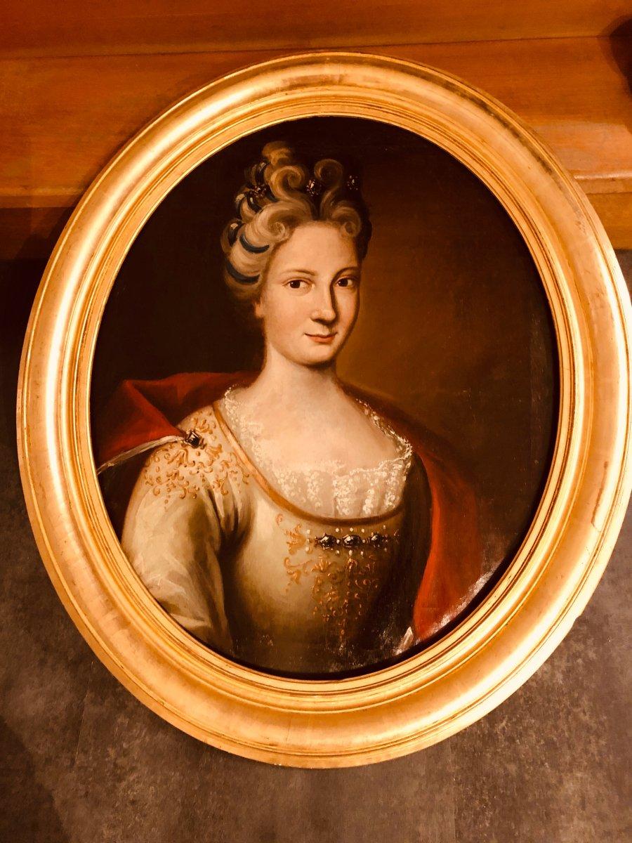 Portrait d'une Dame de Qualité , Epoque XVIIIème Siècle -photo-7
