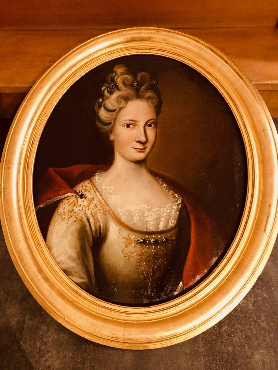 Portrait d'une Dame de Qualité , Epoque XVIIIème Siècle