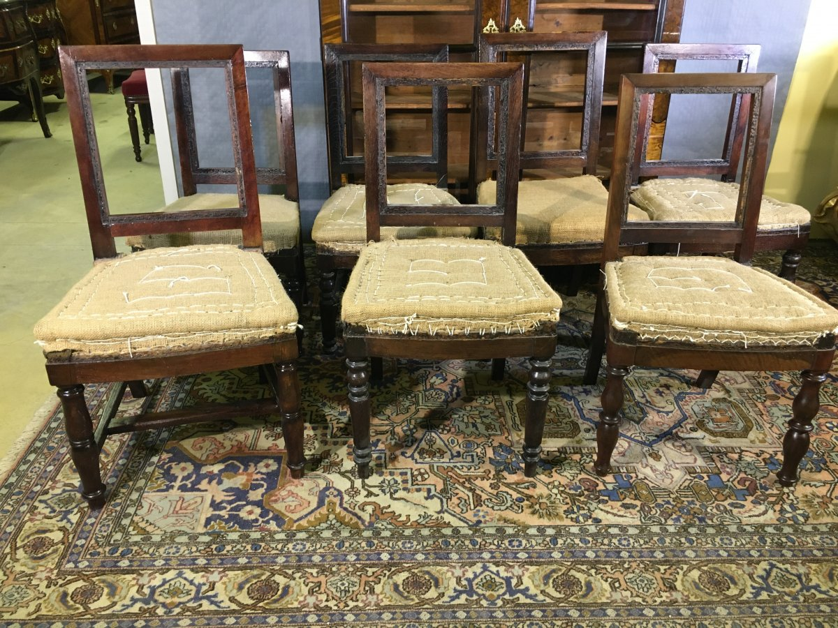 7 Chairs Furniture Guard Inventory No., XIXth Century