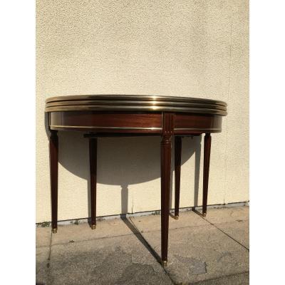 Table Louis XVI , Demi-lune En Acajou