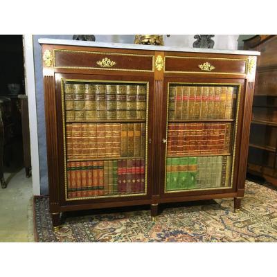 Bibliothèque Louis XVI  2 Portes  , Epoque XIXe Siècle