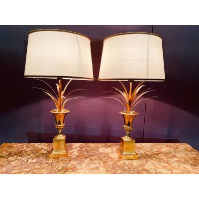 Pair Of Lamps Signed Charles & Fils