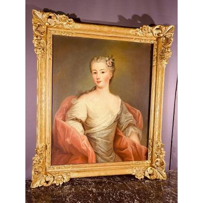 Portrait Of An Elegant Woman From The 18th Century,