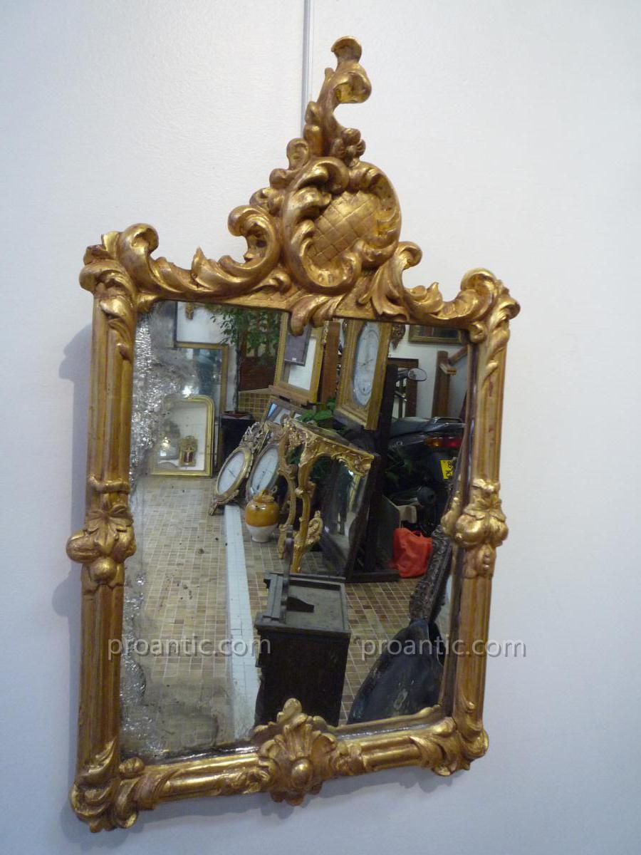 Miroir Baroque d'époque XVIIIème