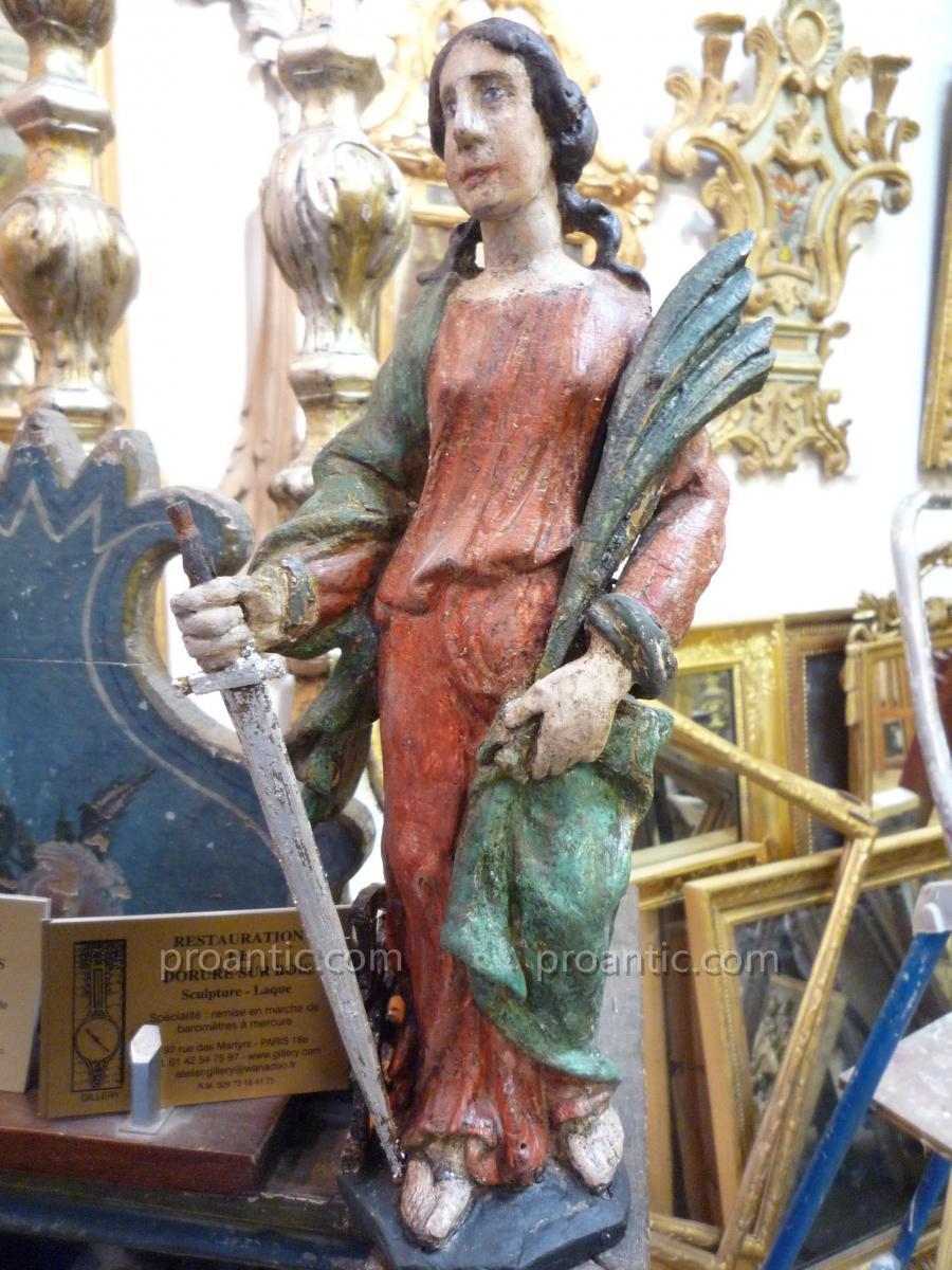 Sainte Catherine d'époque XVIIIème
