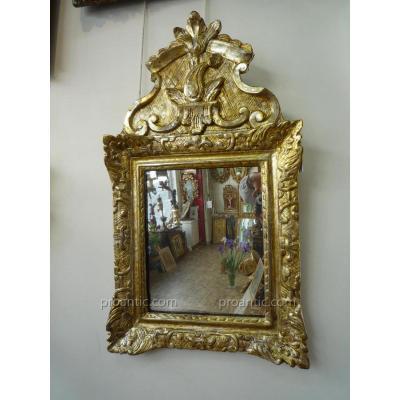 Miroir Argenté d'époque Louis XIV
