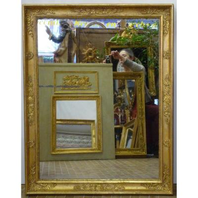 Empire Period Mirror In Gilded Wood