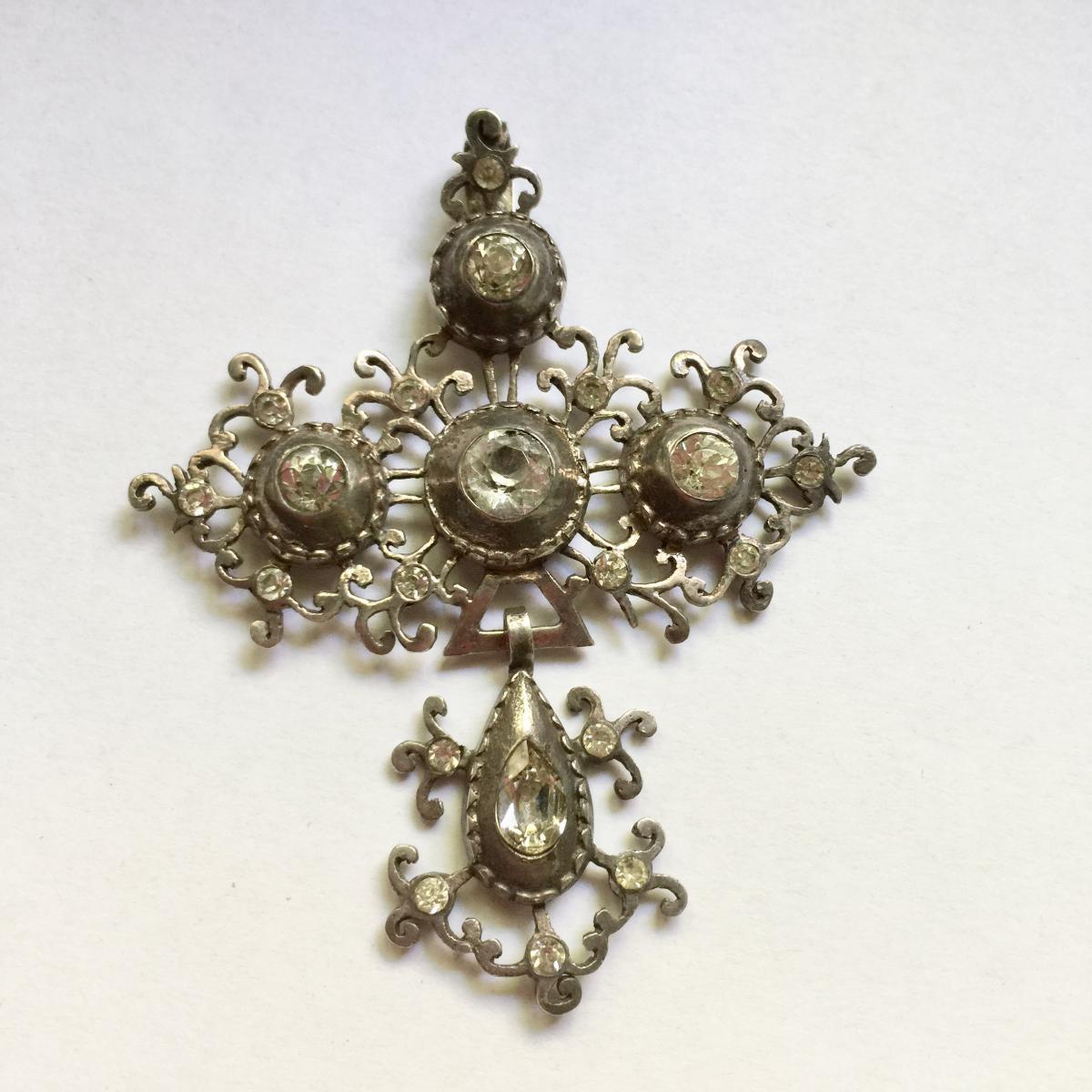 Croix de St Lô - Ancien Bijou Régional de Normandie - Art Populaire XIXème