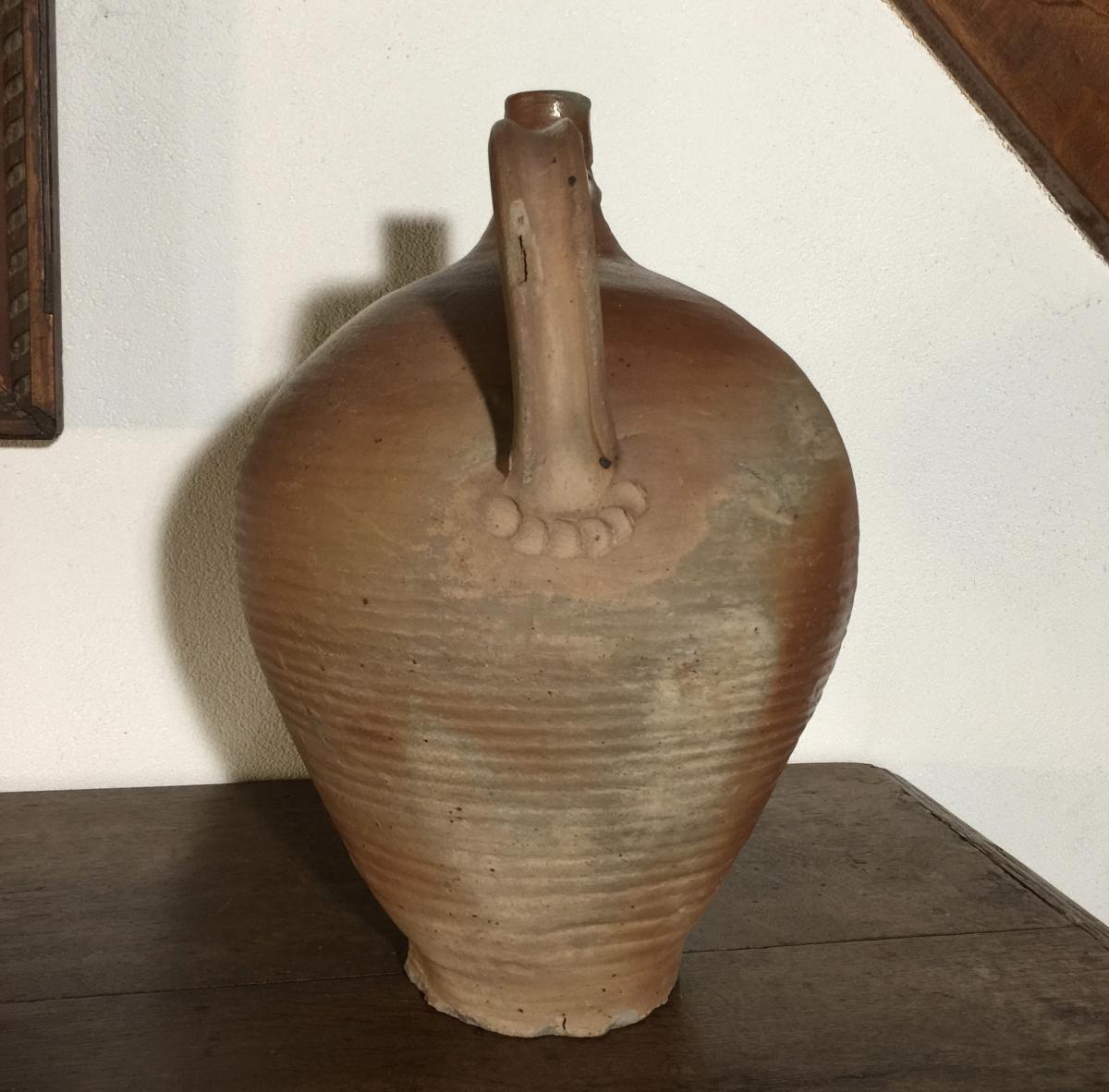 Cruche de Martincamp - Grès XIXème - Poterie de Normandie - Art Populaire-photo-3