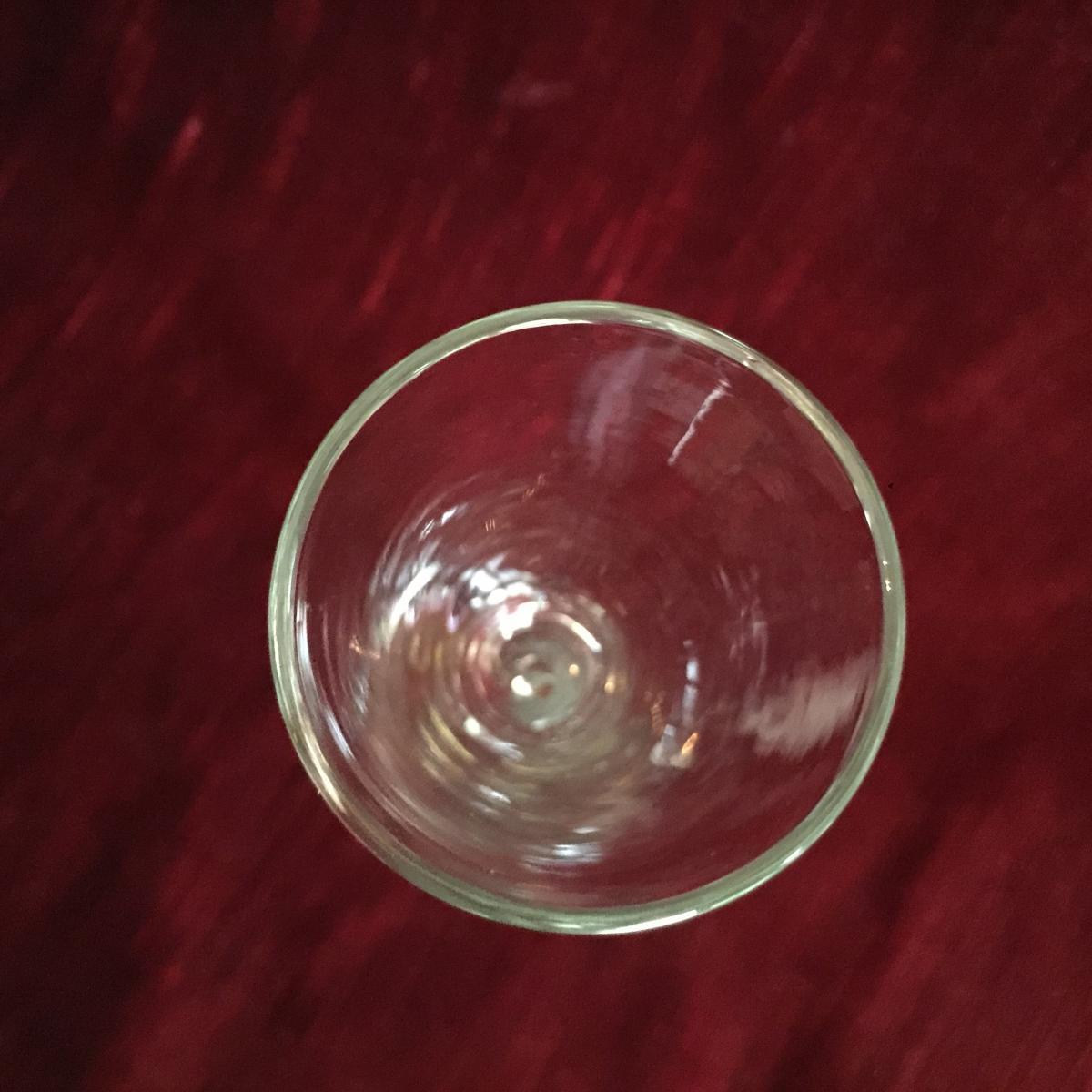 Verre à Pied - Verre à Jambe Twistée Filigranée - Verrrerie fin XVIIIè-débXIXème - Angleterre ?-photo-5