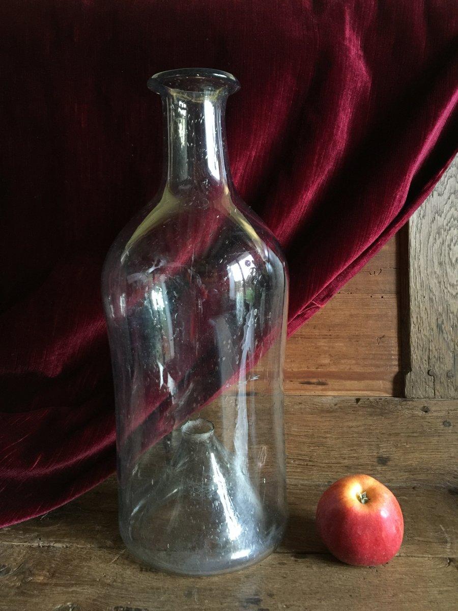 18th Century Blown Glass Minnow Bottle - Old Glassware - Folk Art Fishing-photo-8