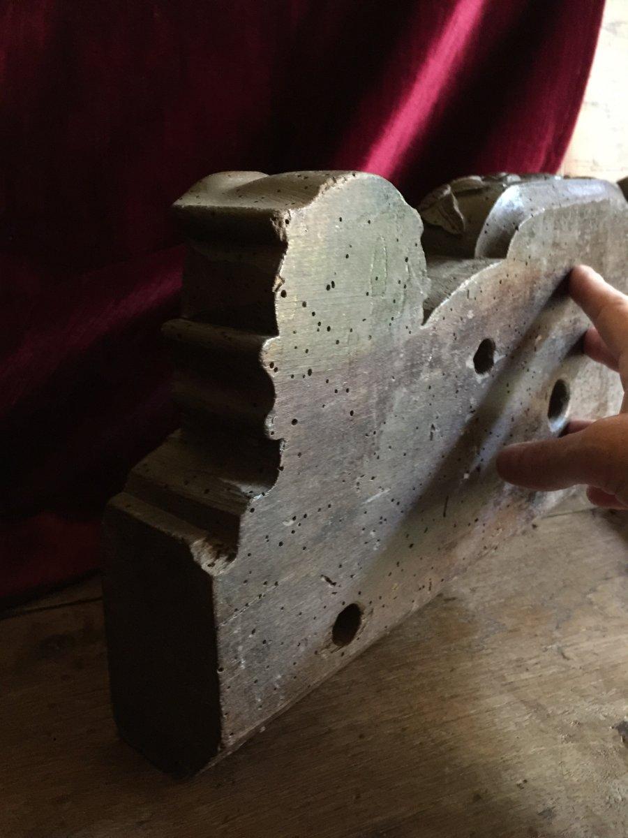 Clef de Foudre Clé en bois sculpté Entrée de Tonneau Alsace fin XVIIIème Art Populaire Vin-photo-6