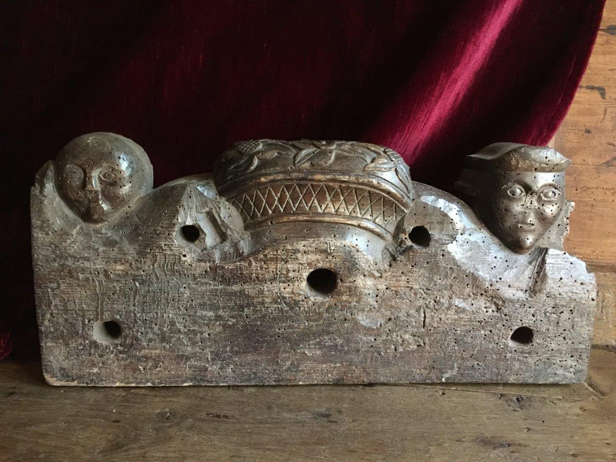 Clef de Foudre Clé en bois sculpté Entrée de Tonneau Alsace fin XVIIIème Art Populaire Vin-photo-8
