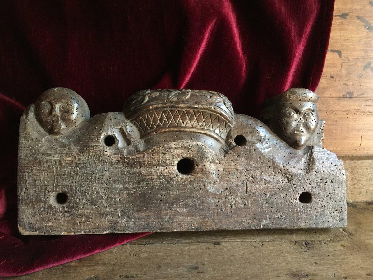 Clef de Foudre Clé en bois sculpté Entrée de Tonneau Alsace fin XVIIIème Art Populaire Vin