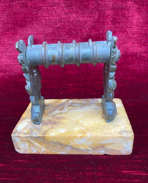 Knife Sharpener In Bronze On Marble - French Restoration Period / Louis-philippe - Early 19th Century -photo-3